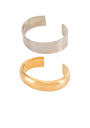 SOKO Eris Stacking Cuffs in Metallic Gold. Size S/M.
