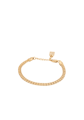 MIRANDA FRYE Remington Bracelet in Metallic Gold.