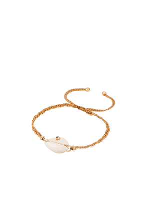 TAI Jewelry Handmade Bracelet with Shell and Stone Accent in Beige.