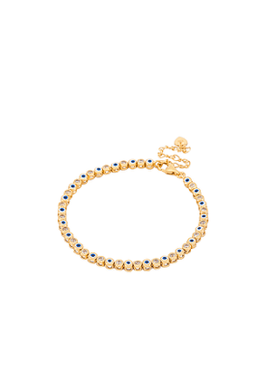 TAI Jewelry Evil Eye Bracelet in Metallic Gold.