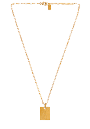 Electric Picks Jewelry Say My Name Initial Necklace in Metallic Gold. Size B, D, E, F, G, H, I, K, L, M, N, O, P, R, S, T.