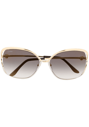Cartier Eyewear oversized square sunglasses - GOLD