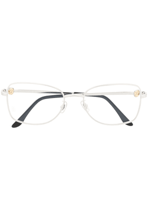 Cartier Eyewear square frame glasses - SILVER