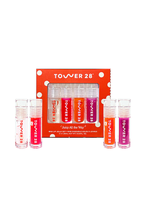 Tower 28 Juicy All The Way Mini ShineOn Lip Jelly Set in Beauty: NA.