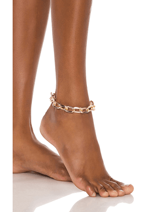 8 Other Reasons Farrah Anklet in Metallic Gold.