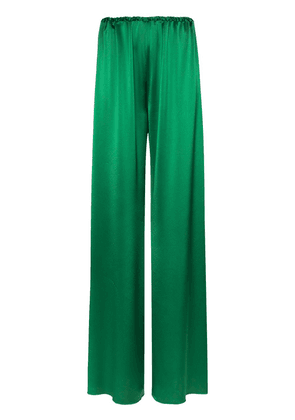 16Arlington high-shine palazzo trousers - Green
