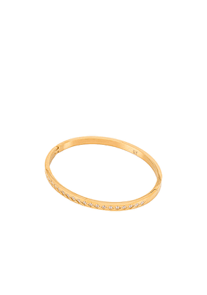 Ellie Vail Isabella Geometric Bracelet in Metallic Gold.