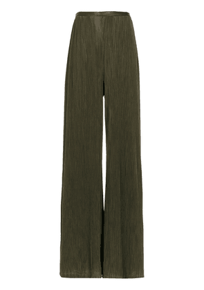 Adriana Degreas Pleated wide trousers - Green