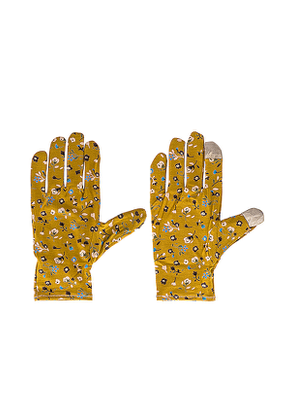 Lele Sadoughi Printed Washable Gloves in Brown.