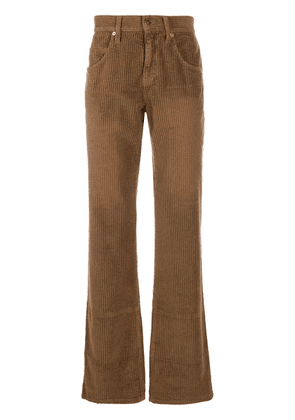 Gucci washed-effect corduroy wide-leg trousers - Brown