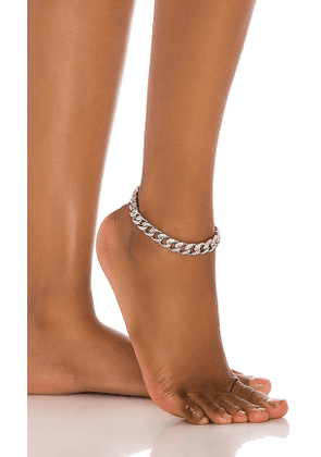 8 Other Reasons Just You Anklet in Metallic Silver.