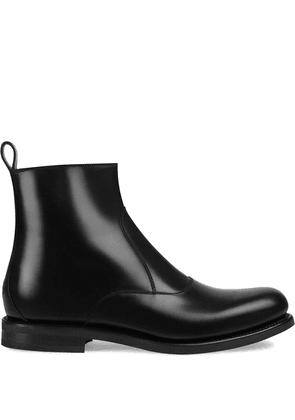 Gucci bee detailed chelsea boots - Black