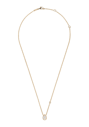 Boucheron 18kt yellow gold Serpent Bohème mother-of-pearl teardrop and diamond XS motif pendant necklace - YG