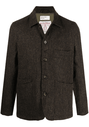 Universal Works tweed single-breasted jacket - Green