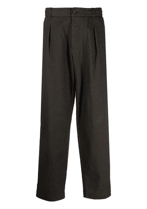 Universal Works pleat detail track pants - Brown