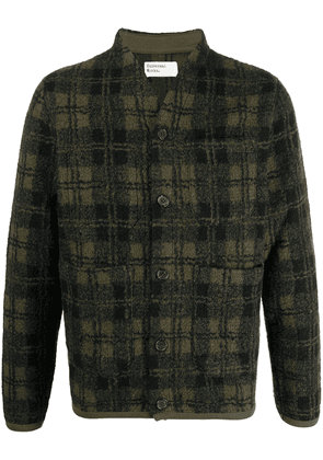 Universal Works checked pattern cardigan - Green