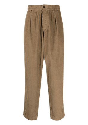 Universal Works dropped-crotch corduroy trousers - Brown
