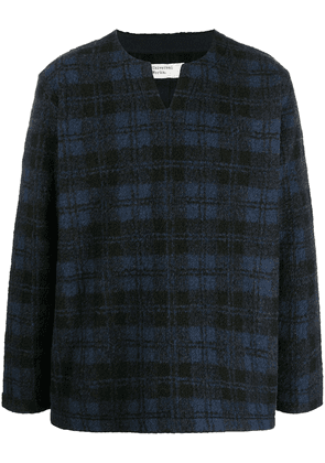 Universal Works oversized split neck jumper - Blue