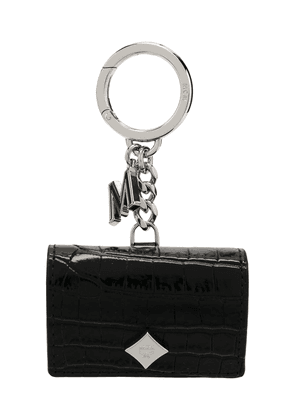 MCM quilted calf leather keyring - Black