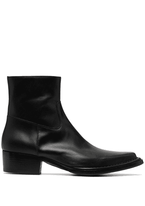 Acne Studios square-toe ankle boots - Black