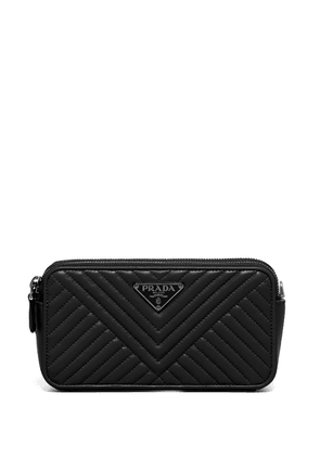 Prada Diagramme clutch bag - Black
