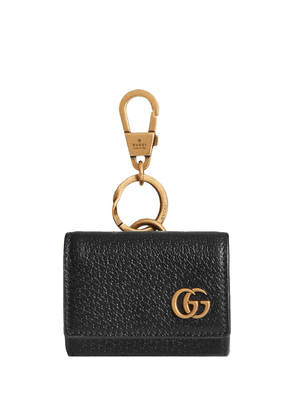Gucci Double G leather wallet keyring - Black