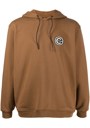 Colmar logo-patch hoodie - Brown