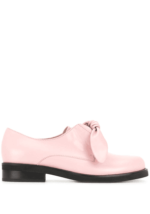 Coliac bow-front leather loafers - Pink
