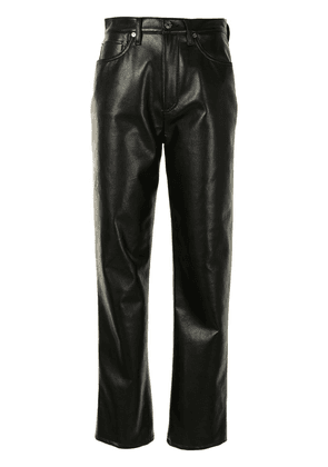 AGOLDE straight leg faux leather trousers - Black
