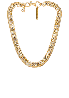 Rebecca Minkoff Layered Chain Necklace in Metallic Gold.