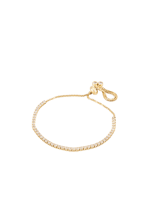 petit moments Mini Tennis Bracelet in Metallic Gold.