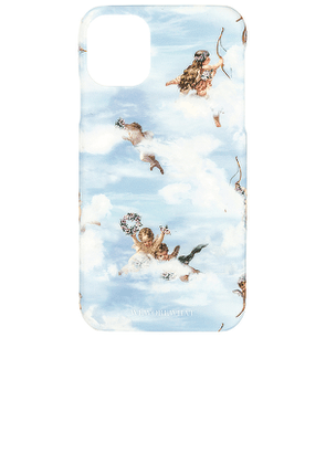 WeWoreWhat Baby Angels iPhone 11 Case in Blue.