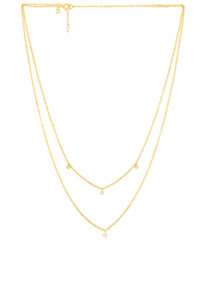 By Charlotte Gold Droplets Necklace in Metallic Gold.