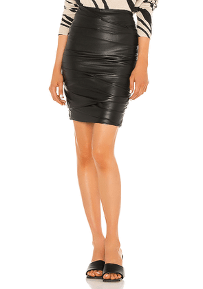Brochu Walker Gina Ruched Pencil Skirt in Black. Size XS.