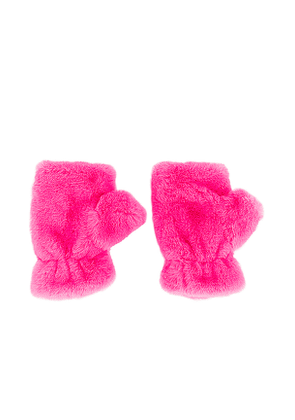 Apparis Ariel Faux Fur Mittens in Pink.