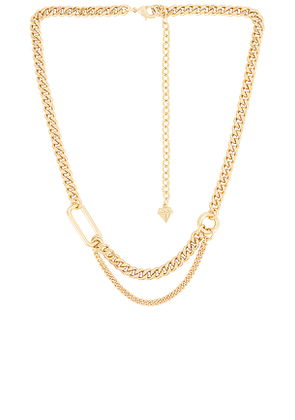 Wanderlust + Co Reflect XL Curb Chain Necklace in Metallic Gold.
