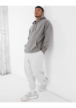 ASOS DESIGN oversized hoodie in pale grey
