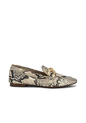 Schutz Maggy Embossed Loafer in Beige. Size 6.5, 7, 7.5, 8, 8.5, 9, 9.5, 10.