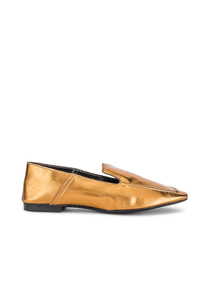 Schutz S Adina Loafer in Metallic Gold. Size 6.5, 7, 7.5, 8, 8.5, 9, 9.5, 10.