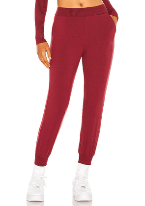 Only Hearts Jogger in Burgundy. Size M, L.