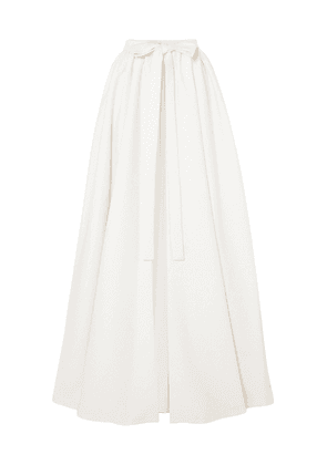 Emilia Wickstead Sorrento Cloqué Wrap Maxi Skirt Woman Off-white Size 10