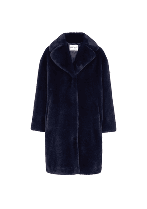Stand Studio Camille Midnight Blue Faux Fur Coat