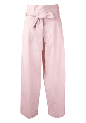 Erika Cavallini tied high waisted trousers - PINK