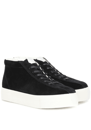 Mother suede high-top sneakers