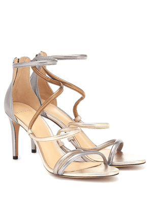 Gianny 100 metallic leather sandals