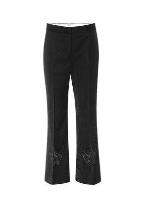 Alissa embroidered wool pants