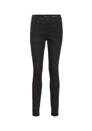 Embroidered cotton skinny jeans