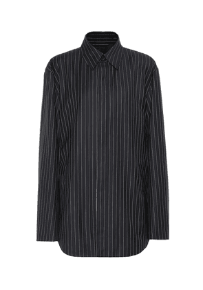 Striped wool and cashmere jacket