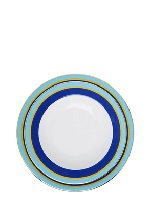 Set Of Rainbow Blue Soup & Dinner Plates