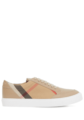 20mm Salmond Leather & Check Sneakers